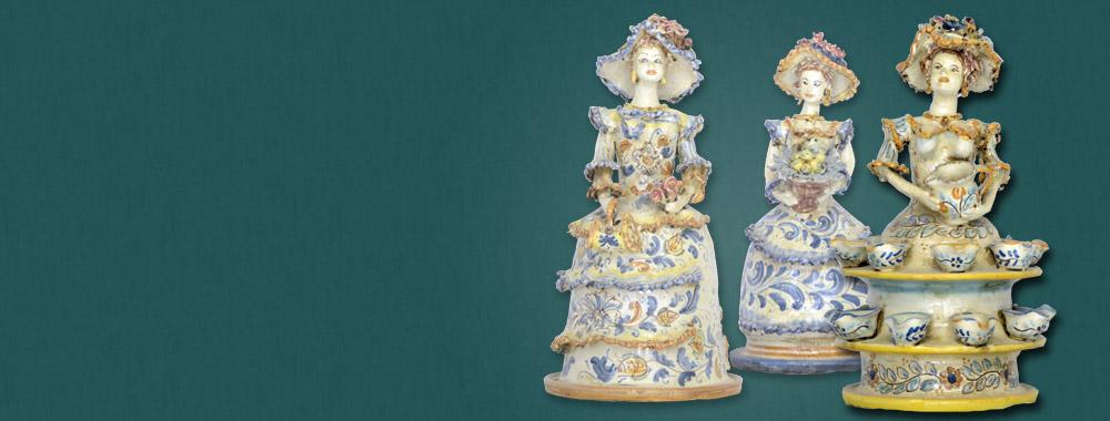 Dame in<br>ceramica di Caltagirone