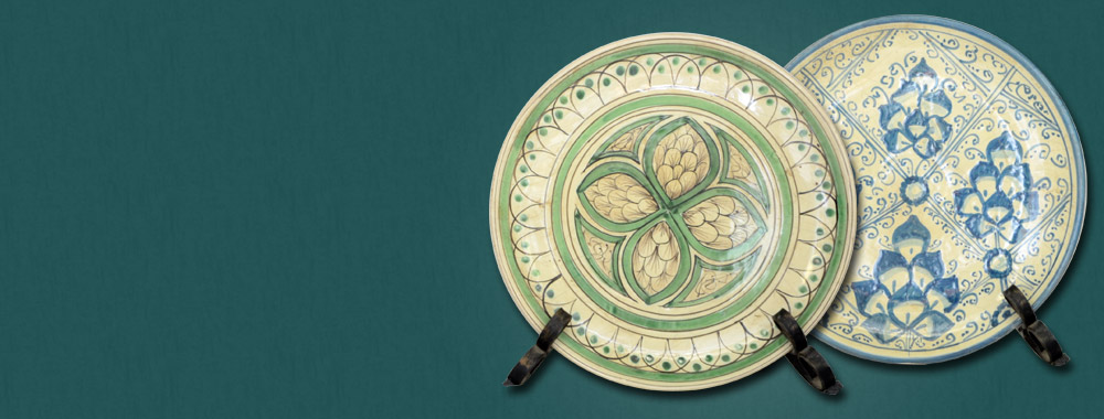 Piatti in ceramica<br>di Caltagirone