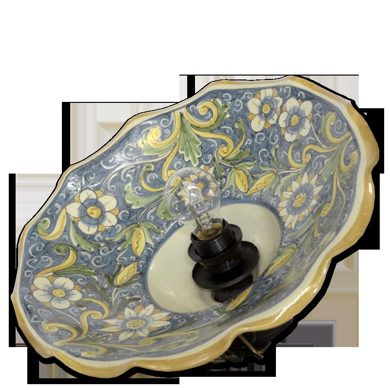 Lampadari In Ceramica Di Caltagirone.Lampadario L0140 Ceramiche Di Caltagirone Davide Frazzetta