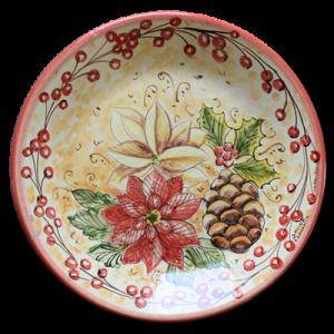 Piatti Ceramica Di Caltagirone.Decorazioni Natalizie In Ceramica Di Caltagirone Ceramiche Frazzetta